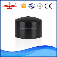 "Yuhua Factory Top Level 25""-1200"" Customized Welding Plastic Buttfusion Molded Fittings Cap HDPE Pipe End Cap"