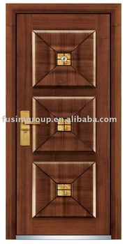 Italian Main Steel Latest Design Wooden Doors
