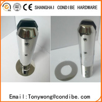 Condibe SS304 casting swimming pool round core drilled glass spigot