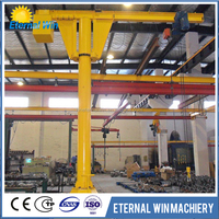 Pillar electric hoist floor mount 500kg jib crane price