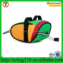 China supplier multicolor bike tail waterproof bicycle bag, fitness bicycle saddle bag big storage