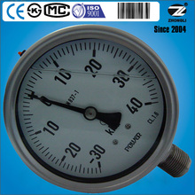 100mm all stainless steel welding type gas meter bellows pressure gauge