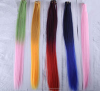Remy color Human Hair extension weft Clip in Cheap wholesale high quality synthesis wigs beautiful silk touch
