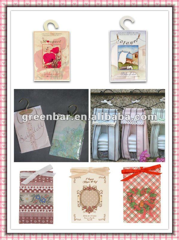 Card board fragrane bag series for FOB price