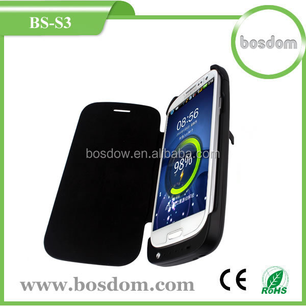 3200mah external emergency battery charger case for samsung galaxy s3