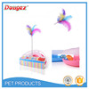 2015 New Pet Cat Colorful Delta feather Tour Toys With Ball Bell Funny Toys Hot Sale