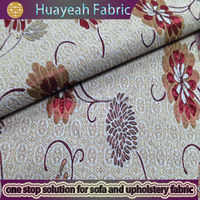 100%polyester flower design sofa table cover fabrics