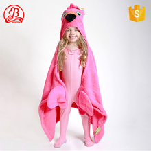 wholesale Baby kids Children Animal Hooded Coral Fleece bathrobe