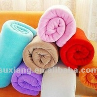 Solid Color Coral Fleece Blanket Oem