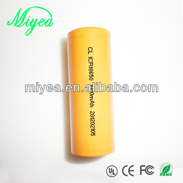 1000MAH Lithium Rechargeable Battery 18650 Battery