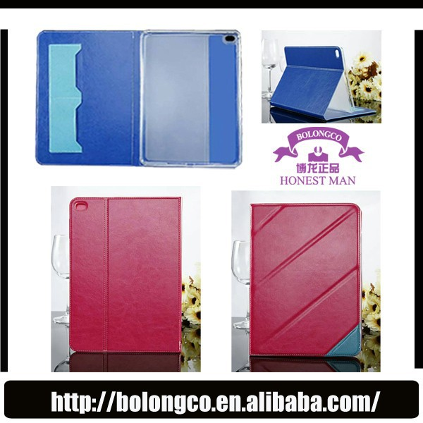 Ultra slim leather free folding stand tablet TPU soft cover for iPad mini 2