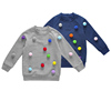 Long Sleeves Embroidered Pom Pom Crewneck Baby Girl Boys Sweater Design