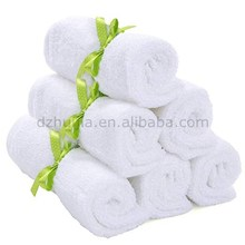 Newborn bamboo baby towel washcloths 6 Packs Soft Bamboo Fiber soft and green environmental face bath towel for kids