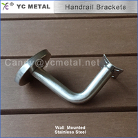Round Pipe Wall Mounted Stainless Steel Balustrade Fittings