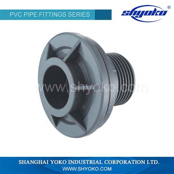 DIN standard grey color Rubber PVC fitting reducer in low price