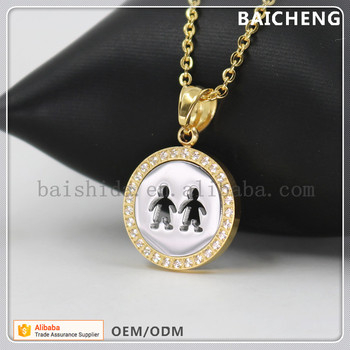 Two boys hand in hand hole pendant Brotherhood Jewelry pendant Silver background pendant