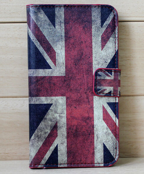 FL2536 Coloured drawing or pattern printing ink wallet leather case for iphone 6 plus