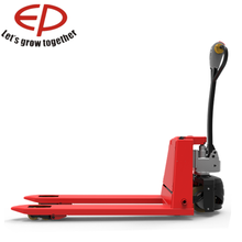With a proven AC traction system 1.8T capacity cheap price semi-electric pallet jack truck