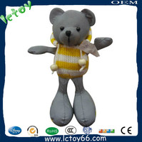Shenzhen factory custom reflective material plush masha and bear