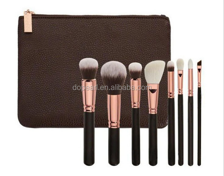 2016 new black 8 Piece makeup brush set with case