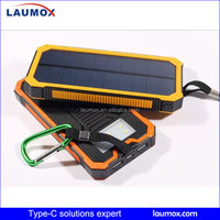 Wholesale solar power bank 20000mAh mobile charger for outdoor camping