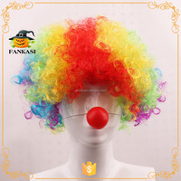 Synthetic cheap party custom clown wig