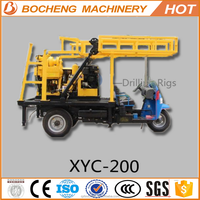 mini water well drilling machinery/ hydraulic hard rock drilling machine/ portable well drilling