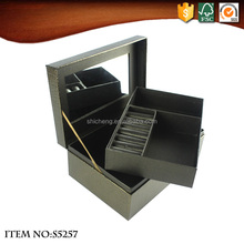 Luxury Square Artificial Leather Paper Jewelry Boxes