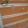 UV coated mdf slotted panel with metal hook