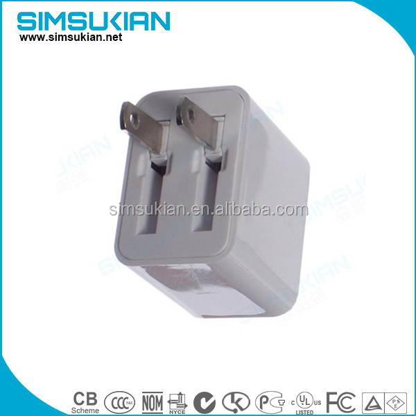 US/EU/UK 5v 2.4a USB Wall Charger USB Power Adapter supply for cell phone