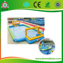 Hot sale and cheap inflatable games for adults inflatable football field JMQ-J116C