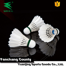 Cheap Curved Goose Feather low price badminton shuttlecock