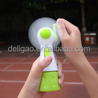 Factory supply ABS plastic made promotional water spray hand crank fan