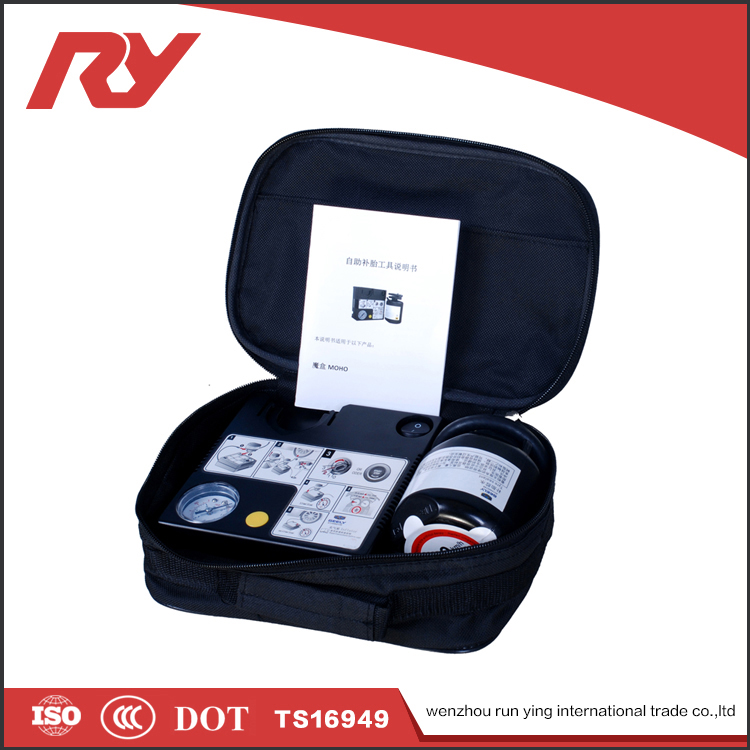 RUNYING Useful Portable Mini Air Compressor And Tire Repair Tool Kit For Sale