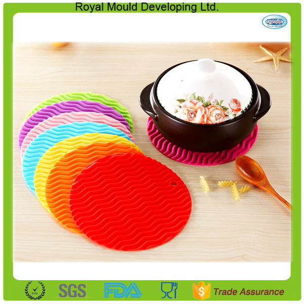 2015 Multi-Use Ripple Silicone Pot Holders Gifts Kitchen Mat