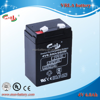 Lead acid 4V 6Ah VRLA battery popular for LED light
