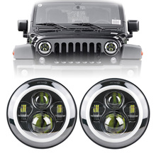 "Factory Price 2015 Promotional USA Popular DOT arroved 07-14 Jeep Wrangler JK 2 Door headlight 7"" led headlights"