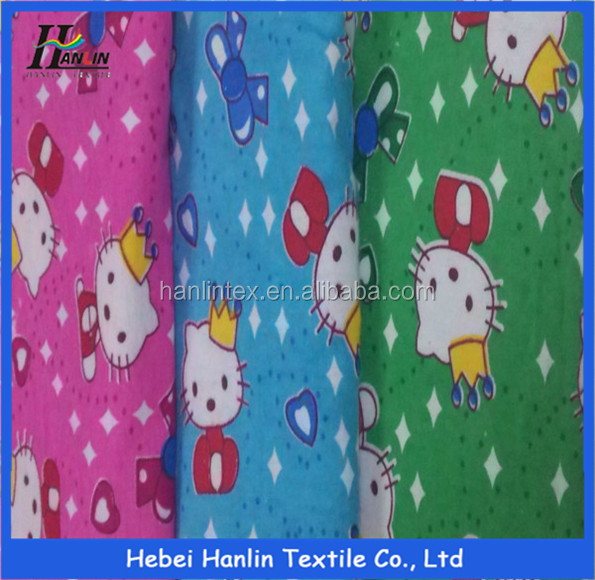 alibaba China supplier Donald Duck all cotton printed pattern soft flannel fabric for baby