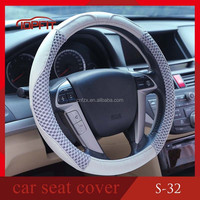 SHEEP LEATHER CAR STEERING WHEEL COVER MULTI CHOICE SIZE M DIAMETER AUTOMOTIVE INTERIOR ACCESSORIES