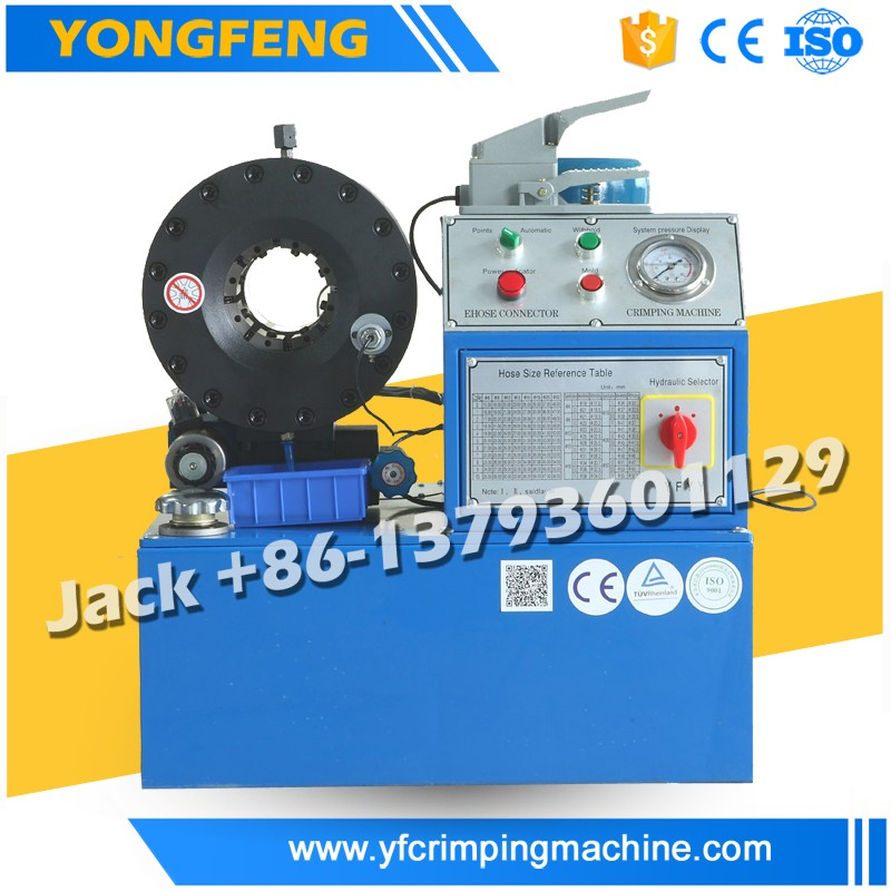 YONGFENG Best Quality YJK-80 Pressure Washing Hose Crimping Machine