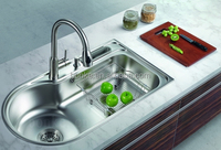BIG Single Bowl Stainless Steel Sink of BK-8505, topmount sink ,kitchen sink,SS304