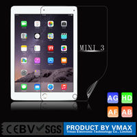 Wholesale custom anti fingerprint tempered glass screen protector for apple ipad air 2 screen guard