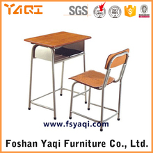 ISO9001Plywood Board Attached School Desks And Chair