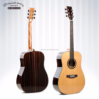 41 inch Round Cedar Solid Acoustic Guitar with daddario Strings,hot sell chinese cheapest guitar good quality guitar