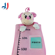 Wholesale Cartoon Animal Customized Children Height Measure Kids Growth Chart Ruler with Baby Photo for Home Decoration