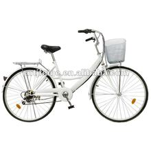 "26"" new model white beautiful City/Lady Bike/bicycle/cycle"