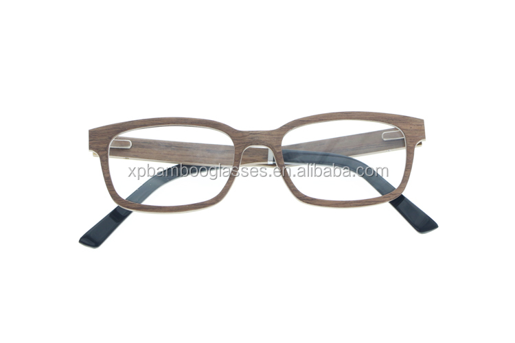 Funny Adjustable Lens Eye Glasses Vogue Wood Optical Glasses With Acetate Tips