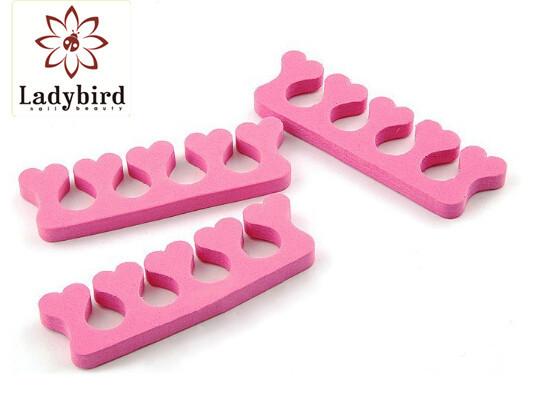 Ladybird various color toe separator foam finger/nail salon ...
