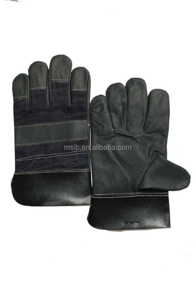 Workplace safety supplies quality Cowhide Cheap Leather Work Gloves