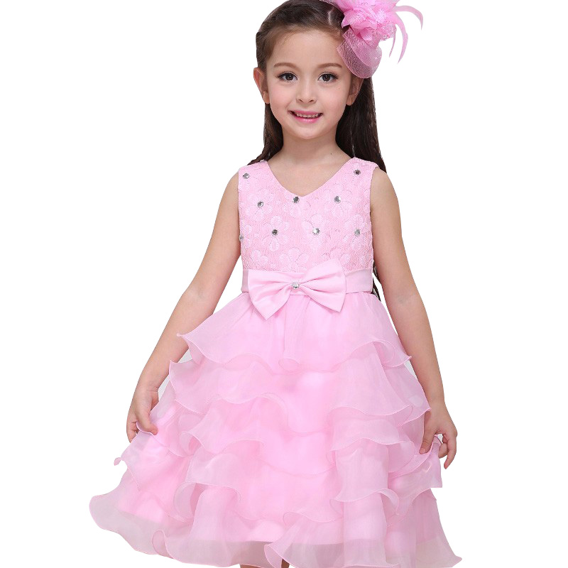 Venta al por mayor flor diseñador vestido de niña-Compre online los ...